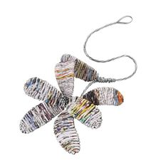 Perennial Paper Flower. Recycled news of the world morphs into a unique handmade flower. #Bangladesh #tenthousandvillages
