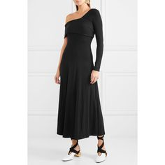 Alora Asymmetric Ribbed Stretch-knit Maxi Dress - Black Beaufille Buy Cheap Newest Cheap Free Shipping With Credit Card Free Shipping Cheap Sale Sast Cheapest slZiIR