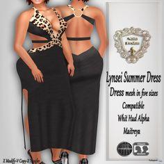 Lynsei Black Leopard Dress Teleport Hub Group Gift by Nala Design