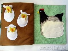 hen and egg quiet book page