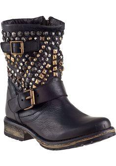 a5b4bdd80c4c1e Steve Madden Marcoo Biker Boot Black Leather - Jildor Shoes