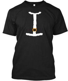 Santa Suit T Shirt Black T-Shirt Front