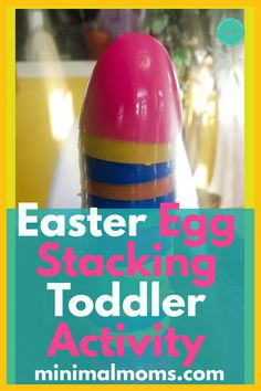 Celebrate Easter while social distancing with this fun & easy Easter egg stacking activity for toddlers to do at home indoors. Easter Activities For Toddlers, Toddler Learning Activities, Games For Toddlers, Fun Crafts For Kids, Learning Resources, Family Day Care, Holiday Fun, Easter Eggs, Fun Diy