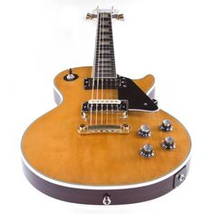 electric guitars les paul | Home Vintage Electric Guitars 1975 Gibson Les Paul Custom, Natural
