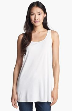 Eileen Fisher Scoop Neck Silk Tunic (Regular & Petite) available at #Nordstrom