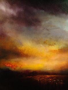 "Saatchi Online Artist Maurice Sapiro; Painting, ""Lake At Sunset"" #art"