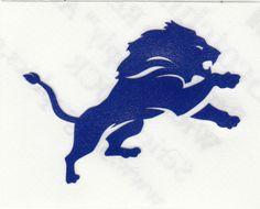 REFLECTIVE Detroit lions fire helmet motorcycle hard hat decal sticker yeti  | eBay