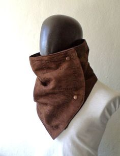 Vegan Men scarf Extra Wide Faux suede in chocolate by CheriDemeter, $32.50. This is pretty damn awesome. Someone please buy this for me so I can be a vegan cowboy. Thanks.