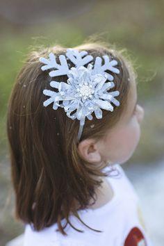Snowflake Headband- for her love of Elsa