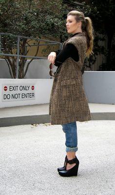KoloDIY: Переделка пальто в жилет своими руками
