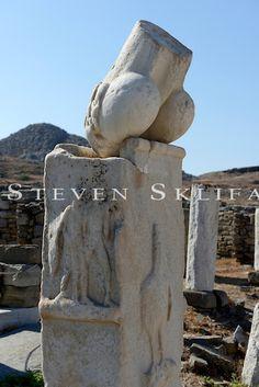 Dionysus temple phallus. Delos. Cyclades. Greece.