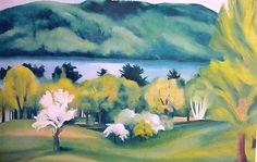 Georgia O'Keeffe. Lake George Early Moonrise, spring 1930