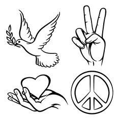 Peace symbols by Microvector on  creativemarket Zodiac Tattoo fb0882cd06e10