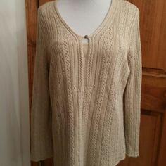 Dana Buchman Size Large--Built in Cami Gorgeous Tan color size large sweater with built in cami...Dana Buchman- pre loved Dana Buchman Sweaters