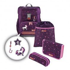 Schulrucksack-Set Step by Step Cloud 5 Teilig Unicorn Limited Edition Louis Vuitton Monogram, Suitcase, Unicorn, Clouds, Pattern, Pink Lila, Gramm, Bags, Sport
