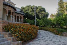 Rincón del Pabellón Mudéjar, Parque de María Luisa, Sevilla. #Sevilla #Seville #sevillaytu @sevillaytu