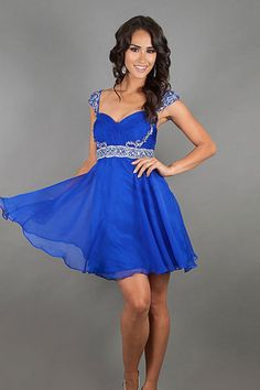 New Arrival Homecoming Dresses A Line Straps V Back Short/Mini With Beads