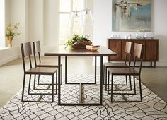 Dining Rooms, Denmark Rectangle Dining Table, Dining Rooms | Havertys Furniture