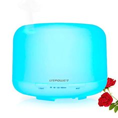URPOWER 500ml Aromatherapy Essential Oil Diffuser Ultrasonic Air Humidifier with 4 Timer Settings 7 LED Color Changing Lamps, 10 Hours Continous Mist Mode Running - AUTO shut off - http://our-shopping-store.com