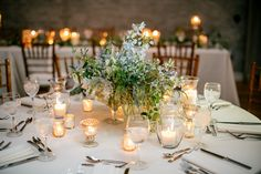 Blue Delphinium and Wildflower Centerpieces