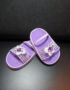 American Girl Doll Clothes Shoes 18 inch Dolls Purple