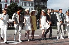 "The Young Girls of Rochefort (French: Les Demoiselles de Rochefort ; literally ""The Young Ladies of Rochefort"") is a 1967 French music. Catherine Deneuve, Jacques Demy, Gene Kelly, Grand Film, Mike Movie, Jacques Perrin, George Chakiris, Damien Chazelle, Movie Projector"
