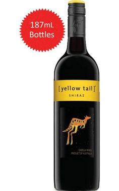 Yellow Tail Shiraz South Eastern Australia 187mL #YellowTail #Shiraz #Cheapwine #Wine #Australia Yellow Tail Wine, Shiraz Wine, Carbs In Beer, Wine Varietals, Wine Names, Wine Auctions, Wine Down, Cheap Wine, Paraty
