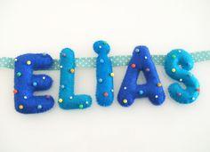 decoracion en fieltro para bebe varon - Buscar con Google What Is Your Name, Google, Ideas, Felt Letters, Thoughts