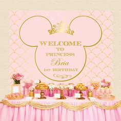 Minnie Mouse Royal Pink and Gold Crown by STYLEMEMIAMIASTUDIO