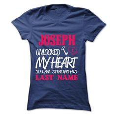 #tshirts... Cool T-shirts (Good T-Shirts) JOSEPH UNLOCKED MY HEART SO I AM STEALING HIS LASTNAME IN RETURN . MechanicTshirts  Design Description: OTHER CUSTOMIZED NAMES AVAILABLE AT http //tshirtdeals.org/identify/identify-unlocked-record.html .... Check more at http://mechanictshirts.xyz/automotive/nice-t-shirts-joseph-unlocked-my-heart-so-i-am-stealing-his-lastname-in-return-mechanictshirts.html