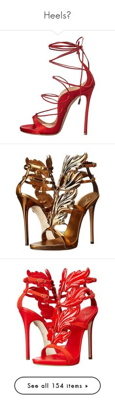 """""""Heels👠"""" by taytay0258 ❤ liked on Polyvore featuring shoes, sandals, heels, saltos, high heel stilettos, leather platform sandals, open toe sandals, sexy high heel sandals, high heeled footwear and ankle wrap sandals"""