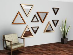 Triangle Mirrors by Gelina - Sims 3 Downloads CC Caboodle