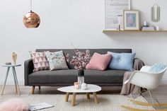 Pastel and Copper Home Inspiration