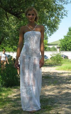 women things to buy, women things ideas, women things to do Freeform Crochet, Thread Crochet, Knit Crochet, Blouse Dress, Knit Dress, Vestidos Fashion, Fillet Crochet, Crochet Wedding, Crochet Clothes