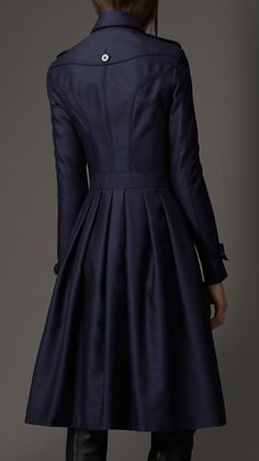 The perfect pleated trench coat to go with all of the perfect pleated skirts that are in my dream closet. Burberry.