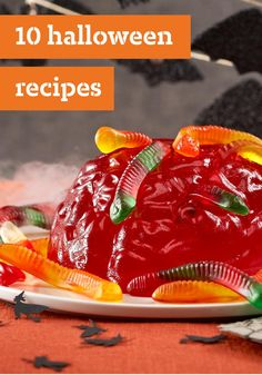 "10 Halloween Food – You can call Halloween food a lot of things—but more than anything, we'd call these recipes spooky, scary, and wonderfully creepy. Oh, and delicious! Our Halloween roundup includes chicken fingers dressed as ""monster claws,"" and scrumptious cupcakes festooned with ""dirt and worms"" (cookie crumbs and candy)."