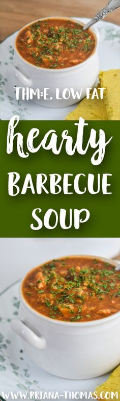 Hearty Barbecue Soup - makes a HUGE pot of soup! - leftovers are perfect for lunches - perfect for a fall potluck! - THM:E - low glycemic - low fat - gluten free - egg free - dairy free - nut free - Trim Healthy Mama friendly