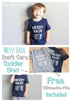 Messy Hair Don't Care Toddler Shirt | Lil Mrs Tori