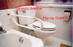 Two styles of grab bar