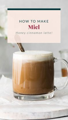 We'll show you how to make a miel in 4 easy steps in your own kitchen. Enjoy this coffee drink hot or cold. Cheers!