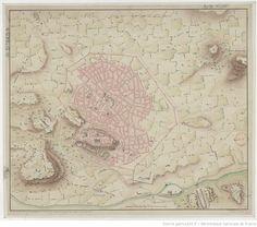Plan d'Athènes / levé par le Cn. Fauvel | Fauvel, Louis-François-Sébastien (1753-1838) | Barbié Du Bocage, Jean-Denis (1760-1825) | Σχεδιάγραμμα της Αθήνας | Φωβέλ | 1780 | πύλη αδριανού, ιλισσός, καλλιρρόη, στάδιο, οθωμανική ακρόπολη, λόφοι λυκαβηττού - στρέφη, τείχος χασεκή, σερπεντζές, ριζόκαστρο, τείχος υπαπαντής