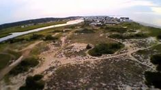 wide angle video fly over; South River, high tide