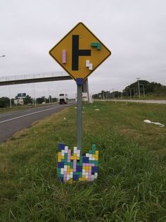 Tetris Traffic Sign