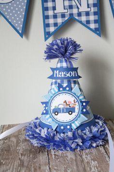 Birthday Hat First Birthday Hat Little Blue by thelovelyapple