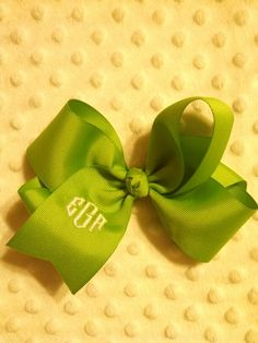 Monogrammed hairbow $5