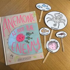✏️ Anemone is not the Enemy by Anna McGregor print and go worksheets. CBCA Book Week shortlist book 2021. Suitable for Kindergarten, Year 1 and Year 2. Book Week, Year 2, Library Books, Old World, Ps, Worksheets, Kindergarten, Anna, Activities