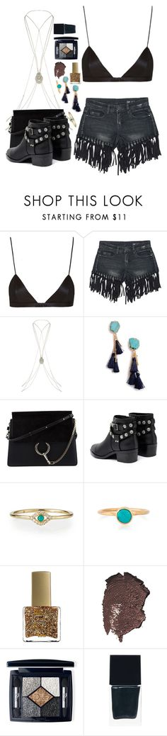 """""""Coachella"""" by seventeene ❤ liked on Polyvore featuring NYX, Sans Souci, Accessorize, Sole Society, Chloé, Senso, Sydney Evan, ncLA, Bobbi Brown Cosmetics and Christian Dior"""