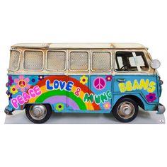 Hippie Kombi Bus Cutout