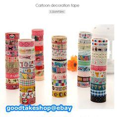 10 Rolls of Kawaii Lovely Deco Cartoon Tape Scrapbooking Adhesive Paper Sticker | eBay