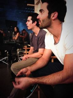 Dylan O'Brien and Tyler Hoechlin behind the scenes